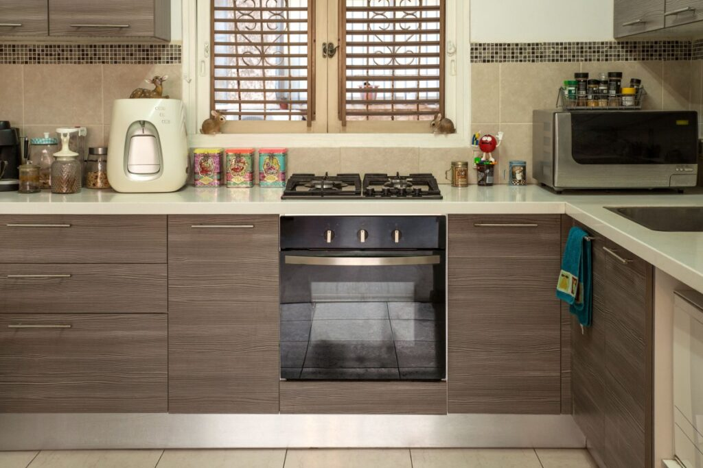 kitchen with solid surface countertops