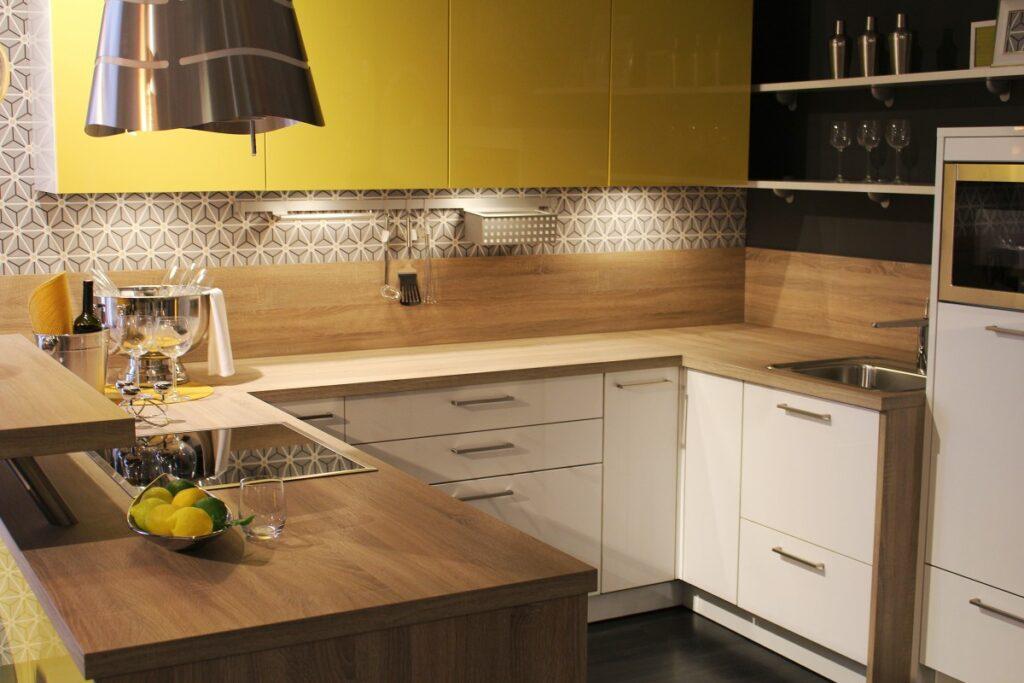 wood countertops on kitchen